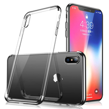 2017 Ultra Slim Mobile Phone Case Soft TPU Back Cover With Plating Frame For iPhone X 10 8 8 Plus