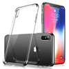 Ultra Slim Mobile Phone Cover Soft TPU Back Case With Plating Frame For iPhone X 10 8 8 Plus