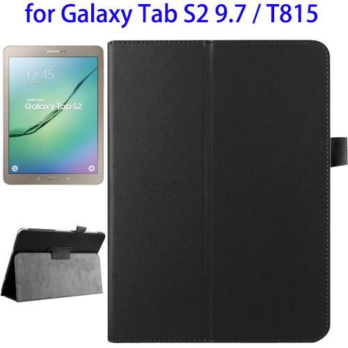 Litchi Texture Horizontal Flip PU Cover Case for Samsung Galaxy Tab S2 9.7