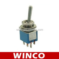 SMTS-202 ON-ON DPDT 6pin mini toggle switch