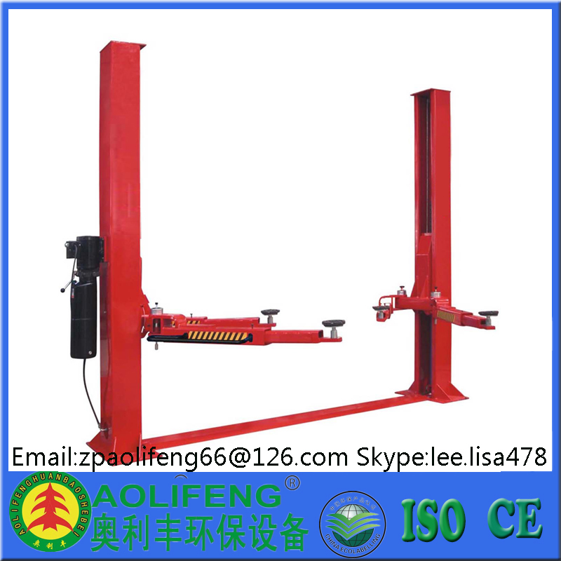 Two post car lift for sale used 13