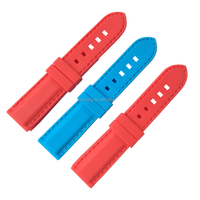 Red, Blue, Yellow, Black, White 20mm Silicone Rubber Wrist Watch Strap With Active Spring Bar