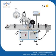 MT-220 automatic glass plastic wine round flat bottle sticker labeling printing machine price