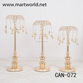 2018 unique umbrella champagne candle holder set with hanging raindrops for wedding party hotel decoration centerpiece(CAN-O72)