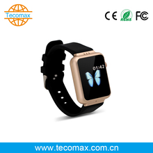 Golden color 3G wifi google facebook download app android smart watch phone