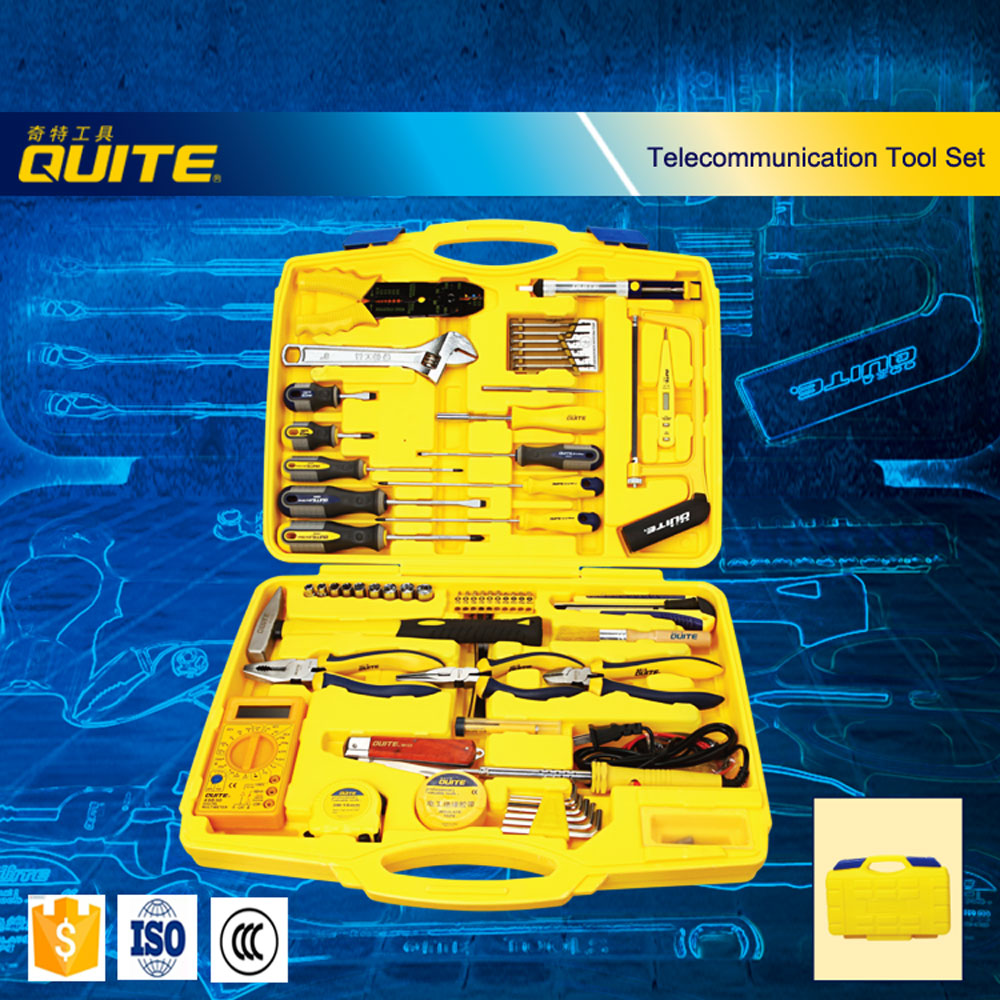 The yellow box 65pcs telecommunication networking electrician tools