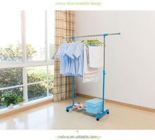 HangZhou high-end metal clothes display modern stand cloth hanger rack