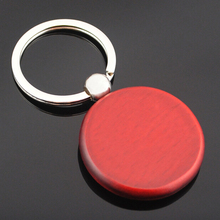 New Design High Quality Wooden Blank Keychain For Wholesale, promotion handicrafts Souvenir round wood keychain key chain