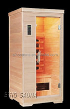 1 person dual infrared saunas home equipment with ceramic heater