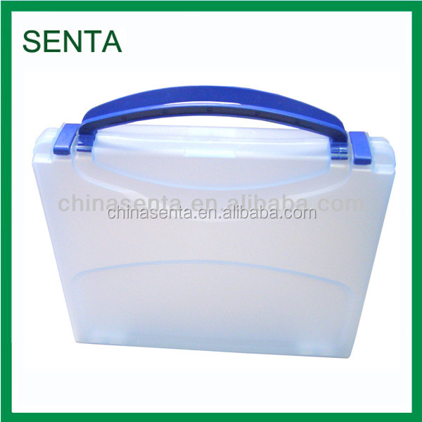 A4 clear plastic with handle file case