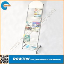 Stable metal modern magazine rack stand newspaper holder