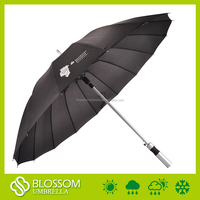 Top quality cheap black color auto open golf straight standard umbrella size