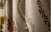 customized window curtain fabric, jacquard fabirc 039 fire retardant blackout fabric for bedroom