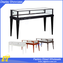 Glass jewelry display table for jewellery layout design