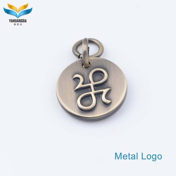 new product handbag ornaments metal custom logo plate accessories for bags