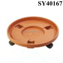 Large terracotta color flower pot tray