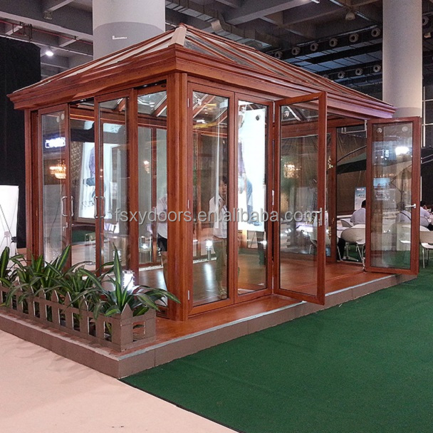 Fashionable design strong aluminium frame tempered glass sunroom