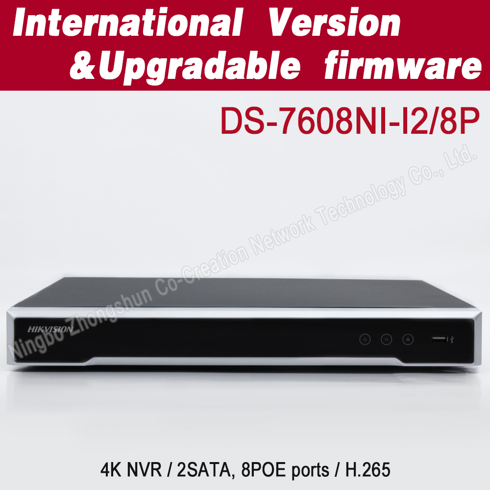 English version 8ch H.265 poe nvr DS-7608NI-I2/8P