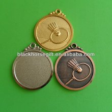 Personalized Logo Metal Gold,Silver,Copper Coin With Badminton Logo