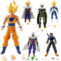 6pcs Dragonball Z Dragon Ball DBZ Goku Piccolo Action Figure Toy Loose
