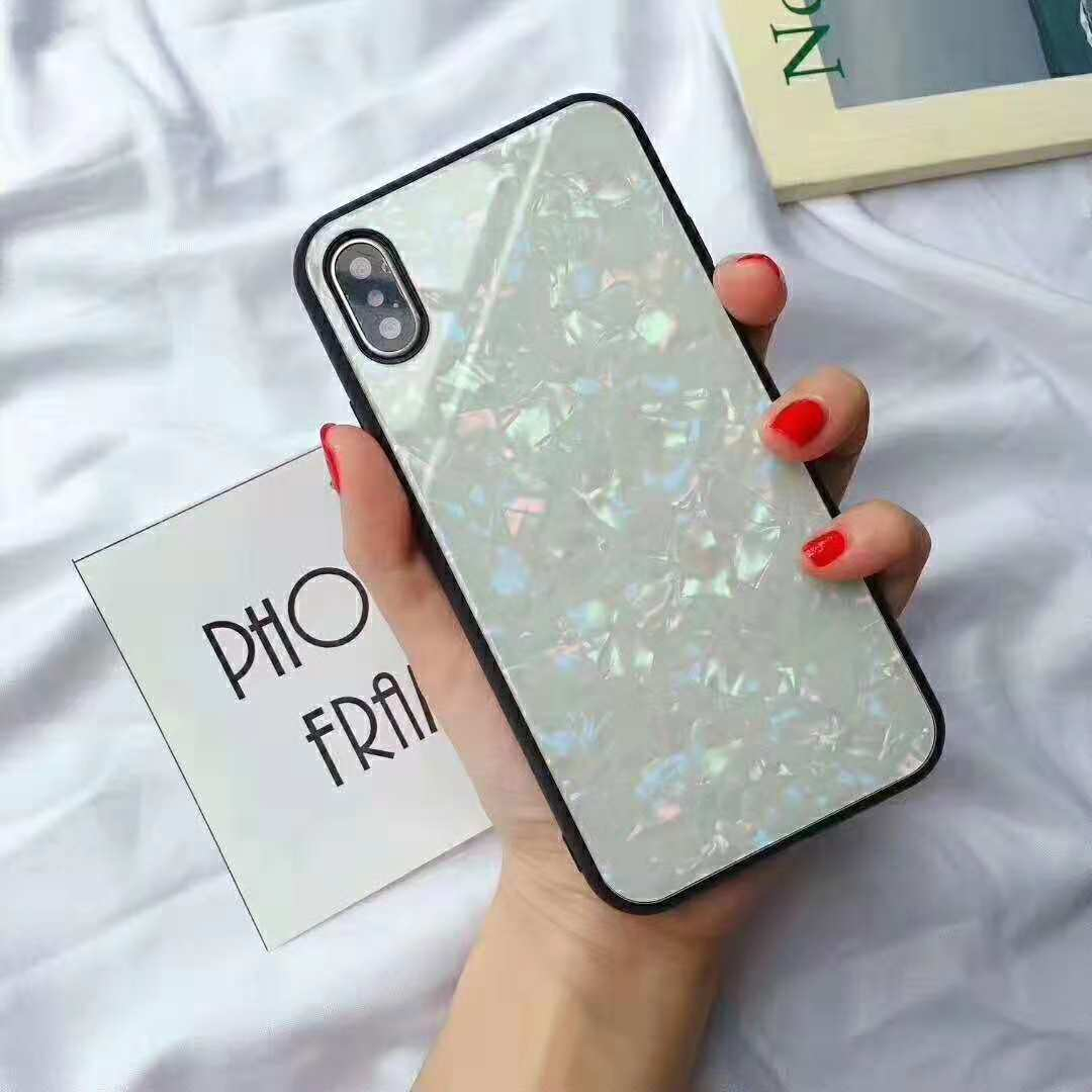 New product colorful gradients TPU tempered glass phone <strong>case</strong> back cover for Apple iPhone X/XS/XR/XS MAX