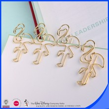 Popular stationery flamingo plating gold clips