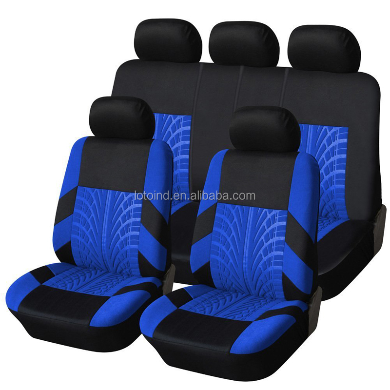 Car Seat Covers Universal Fit Full Set Car Seat Protectors black and blue