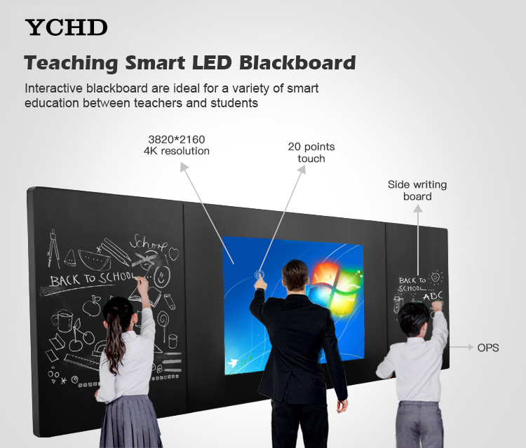 Smart led Board Interactive electronic blackboard touch screen display for school