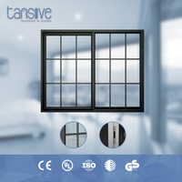 Tansive construction double glazed aluminum iron sliding window grill color
