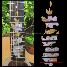 Guitar Inlay Stickers Flower Guitar Fretboard Decals For Acoustic Electric Guitarra Fret Neck New