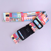Custom Adjustable Polyester Luggage Belt With Lock