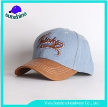 Unisex Wearing Jeans 3d Embroidery Machine For Baseball Cap With Leather Brim