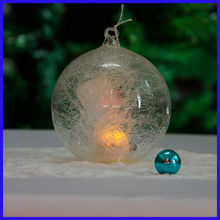 Beautiful Clear New Design Amazing Spun Glass Ball with Led Light