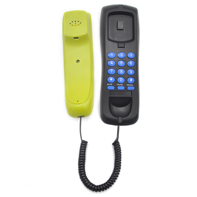 Black Color Hot sale Chinese Cheap Bathroom Hotel Slimline Phone Manufacturer
