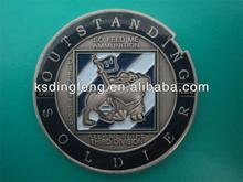antique nickel customized military coin