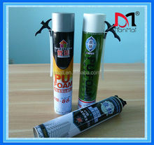 Aerosol can spray polyurethane foam sealant for window and door frame, woodworking foam sealant