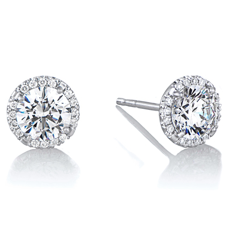 diamond stud 925 sterling silver jewelry <strong>earrings</strong>