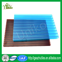 multi-wall 100% virgin GE SABIC clear 6mm and 8mm and 10mm pc honeycomb sheet for greenhouse skylight