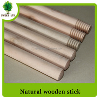 China factory sales natural wooden stick for brush and broom / cleaning floor tools wooden mop stick