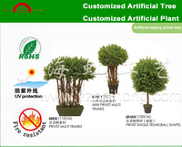 Artificial topiary privet tree/artificial privet trees for wedding/artificial boxwood trees for shopwindow