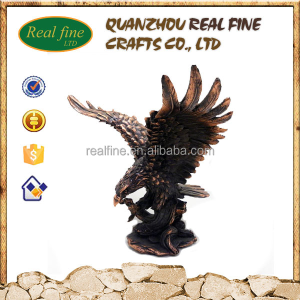 Wholesale cheap polyresin eagle sculpture for sale
