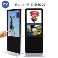 70 inch infared touch screen digital TV panel with advertising digital signage software