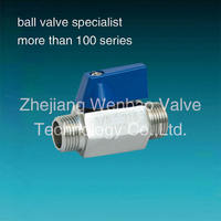 1/2 inch Mini Ball Valve ss316 Npt male thread ball valve