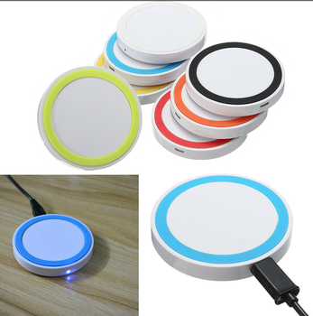 Universal Qi Wireless Charger Portable Wholesale Cell Phone Charger, Colourful quick qi standard wireless charger
