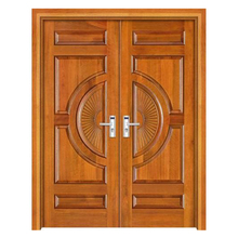 Foshan Factory Safety Exterior Solid Wooden Teak Wood Main Door Designs