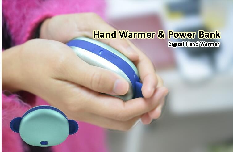 Trending hot products 4500mah li-ion rechargeable phone chargers/power bank hand warmer