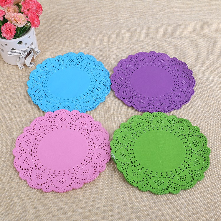 Solid color Printed Paper Doilies