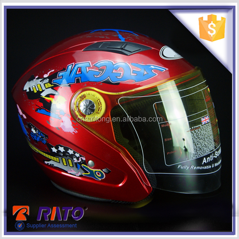 Novelty rosy youth motorcycle helmets for sale