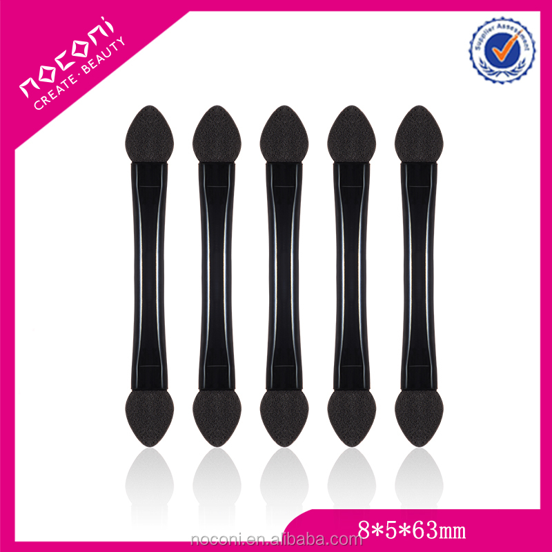 Portable design plastic handle replaceble sponge Tip applicator/eye liner makeup brush