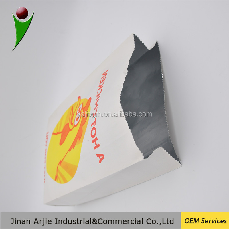 takeaway food hot chicken wrap aluminum foil paper kebab bag